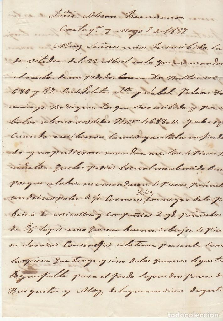 Sellos: Sello 48. CARTAGENA a BARCELONA. 1857 - Foto 4 - 175198130