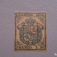 Sellos: ESPAÑA - 1854 - ISABEL II - EDIFIL 34A - F - MH* - NUEVO - PAPEL GRUESO - VALOR CLAVE - LUJO.. Lote 175207568