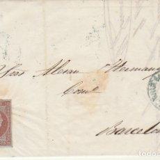 Sellos: SELLO 40. ISABEL II. CARTAGENA A BARCELONA. 1855. Lote 175212587