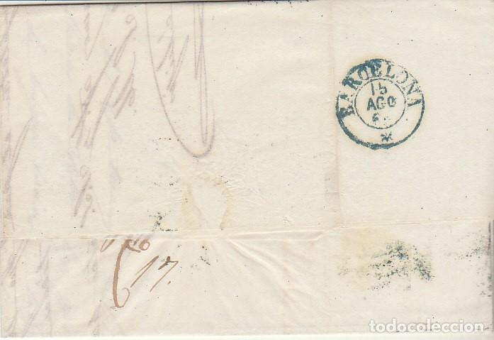 Sellos: Sello 40. ISABEL II. CARTAGENA a BARCELONA. 1855 - Foto 2 - 175212587