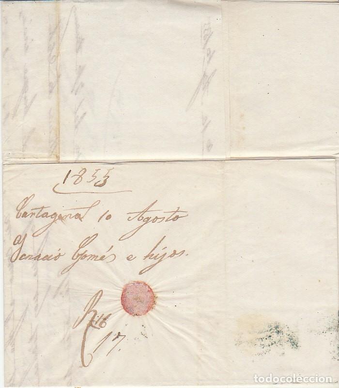 Sellos: Sello 40. ISABEL II. CARTAGENA a BARCELONA. 1855 - Foto 3 - 175212587