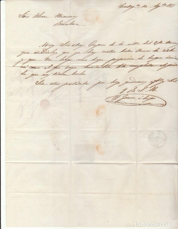 Sellos: Sello 40. ISABEL II. CARTAGENA a BARCELONA. 1855 - Foto 4 - 175212587