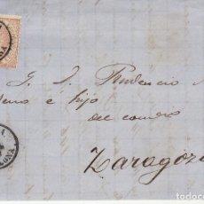 Sellos: SELLO 96. ISABEL II. TUDELA A ZARAGOZA.1868. Lote 175214368