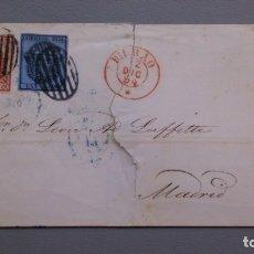 Sellos: ESPAÑA - 1854 - ENVUELTA COMPLETA BILBAO-MADRID 1854 - EDIFIL 31 Y 33 - ALTO VALOR - ESCASA.. Lote 175269719