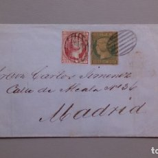 Sellos: ESPAÑA - 1853 - ENVUELTA COMPLETA GIBRALTAR-MADRID 1853 - EDIFIL 16 Y 17 - EXCELENTE CONSERVACION.. Lote 175275987