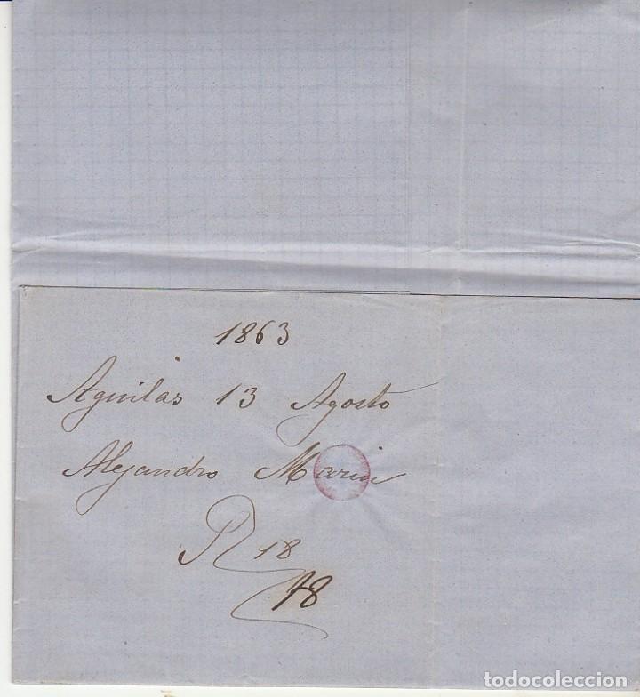 Sellos: Sello 58. ISABEL II. AGUILAS a BARCELONA. 1863 - Foto 3 - 175324484