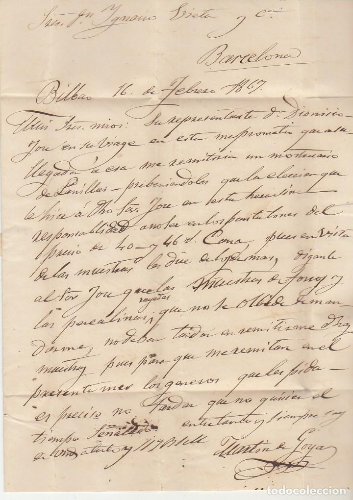 Sellos: Sello 81. BILBAO a BARCELONA. 1867. - Foto 4 - 175326957