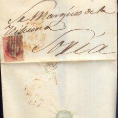 Sellos: AÑO 1853 EDIFIL 17 ENVUELTA MATASELLOS REJILLA MADRID A SORIA. Lote 175701510