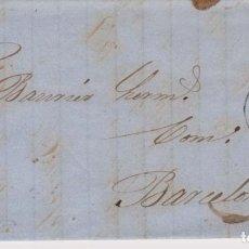 Sellos: AÑO 1866 EDIFIL 81 ISABEL II CARTA MATASELLOS RUEDA DE CARRETA 2 BARCELONA MEMBRETE ANTIN Y SOBRINO. Lote 176081033
