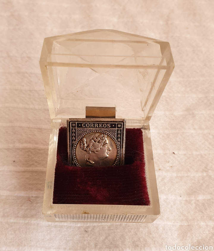 SELLO CORREOS 2 REALES 1855 PLATA (Sellos - España - Isabel II de 1.850 a 1.869 - Usados)