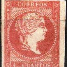 Timbres: EDIFIL Nº 48*4CU ROJO TIPO I ( 215,00 € ). Lote 176234955