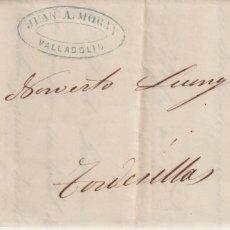 Sellos: 1863. VALLADOLID A TORDESILLAS. RUEDA CARRETA 14. SELLO BORDE DE HOJA.. Lote 176845877