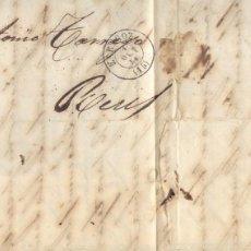 Sellos: AÑO 1856 EDIFIL 48 ISABEL II CARTA MATASELLOS REJILLA ZARAGOZA . Lote 176849348