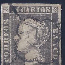 Sellos: EDIFIL 1A. ISABEL II. AÑO 1850. PAPEL GRUESO. LUJO.. Lote 177319625