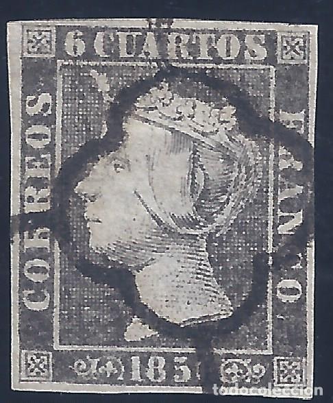 EDIFIL 1A. ISABEL II. AÑO 1850. TIPO 28. PAPEL FINO. LUJO. (Sellos - España - Isabel II de 1.850 a 1.869 - Usados)
