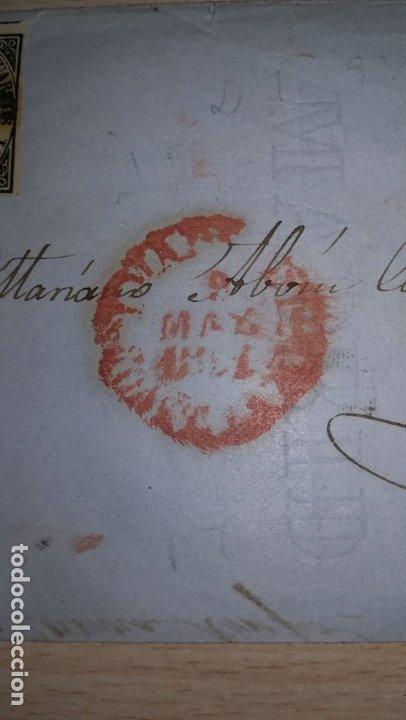 Sellos: ANTIGUA CARTA CON SELLO DE SEIS CUARTO. EPOCA ISABEL 2ª.DESTINO AVILA.AÑO 1851 - Foto 2 - 177617033