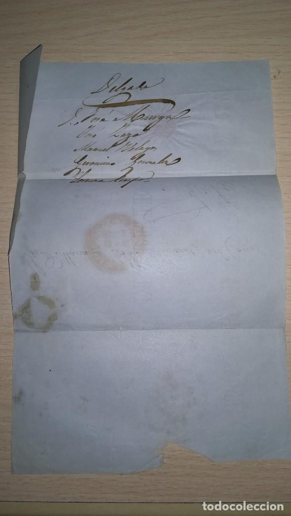 Sellos: ANTIGUA CARTA CON SELLO DE SEIS CUARTO. EPOCA ISABEL 2ª.DESTINO AVILA.AÑO 1851 - Foto 5 - 177617033