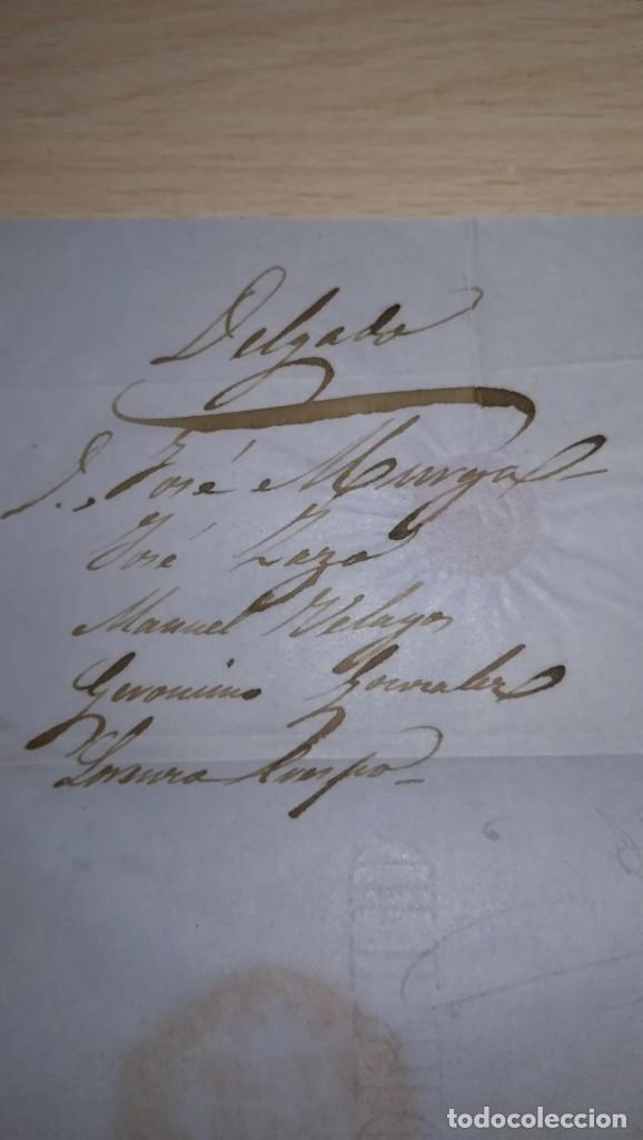 Sellos: ANTIGUA CARTA CON SELLO DE SEIS CUARTO. EPOCA ISABEL 2ª.DESTINO AVILA.AÑO 1851 - Foto 6 - 177617033