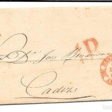 Sellos: ANDALUCIA. ENVUELTA CIRCULADA DE SEVILLA A CADIZ 18-JUN-1853. Lote 177701312