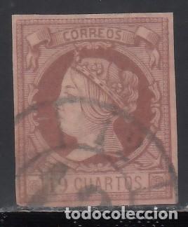 ESPAÑA, 1860 - 1861 EDIFIL Nº 54, 19 CUARTOS. ISABEL II (Sellos - España - Isabel II de 1.850 a 1.869 - Usados)