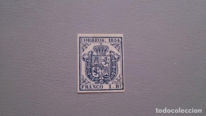 ESPAÑA - 1854 - ISABEL II - EDIFIL 34 - F - MNG - NUEVO - ESCUDO DE ESPAÑA. (Sellos - España - Isabel II de 1.850 a 1.869 - Nuevos)