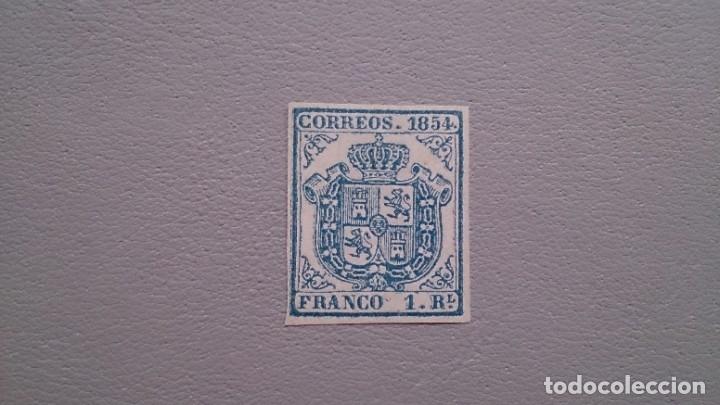 ESPAÑA - 1854 - ISABEL II - EDIFIL 34 A - F - MNG - NUEVO - ESCUDO DE ESPAÑA. (Sellos - España - Isabel II de 1.850 a 1.869 - Nuevos)