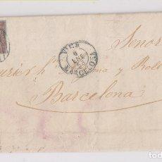 Sellos: CARTA. RODA A BARCELONA. 1856. FECHADOR DE VICH. Lote 178735956