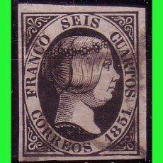 Sellos: 1851 ISABEL II, EDIFIL Nº 6 (O) LUJO. Lote 179236785