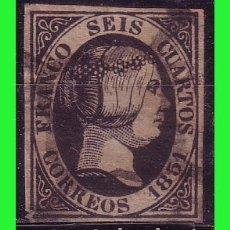 Sellos: 1851 ISABEL II, EDIFIL Nº 6 (O) LUJO. Lote 179236821