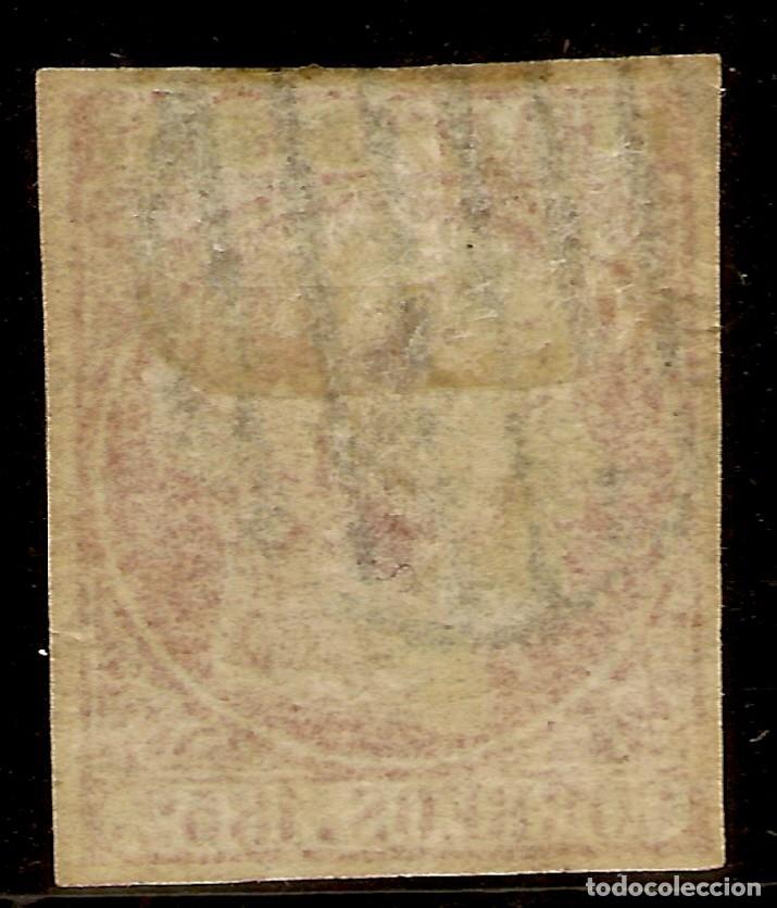 Sellos: España Edifil 12 (º) 6 Cuartos Rosado Isabel II 1852 NL957 - Foto 2 - 179238803
