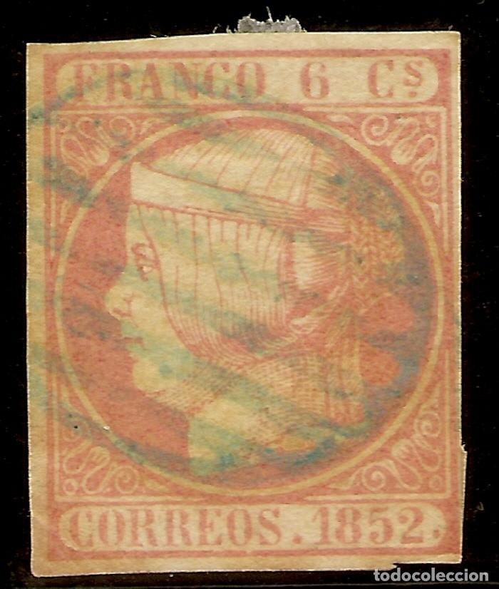 Sellos: España Edifil 12 (º) 6 Cuartos Rosado Isabel II 1852 NL957 - Foto 3 - 179238803