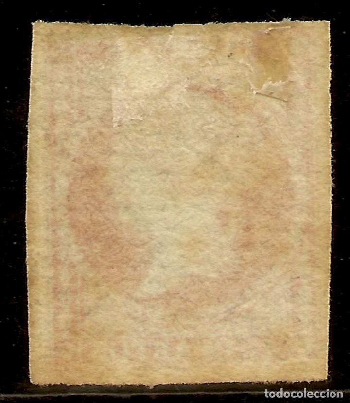 Sellos: España Edifil 4 * Mh Filigrana lineas 4 Cuartos rojo Isabel II 1855 NL942 - Foto 2 - 179243478