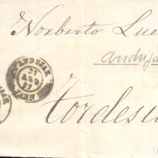 Sellos: AÑO1867 EDIFIL 96 ENVUELTA MATASELLOS ANDUJAR JAEN A TORDESILLAS. Lote 179525392