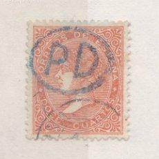 Sellos: CC12-CLÁSICOS EDIFIL 100A. USADO ESPAÑA IRUN? Y PD AZUL. LUJO. Lote 180184891