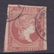 Sellos: CC13- CLÁSICOS EDIFIL 48. USADO FECHADOR TIPO II BENABARRE HUESCA . Lote 180187875