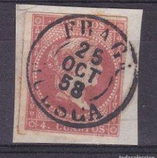 Sellos: CC13- CLÁSICOS EDIFIL 48. USADO FECHADOR TIPO I FRAGA HUESCA . FRAGMENTO. Lote 180187978