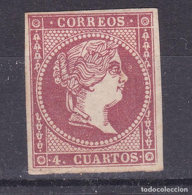 CC23- CLÁSICOS EDIFIL 48C NUEVO.* MUY LIGERA SEÑAL DE FIJASELLOS (Sellos - España - Isabel II de 1.850 a 1.869 - Nuevos)