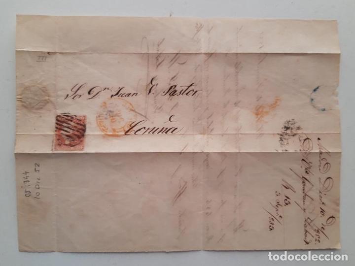 Sellos: 1852 Edifil 12 Madrid Coruña - Foto 2 - 180293225