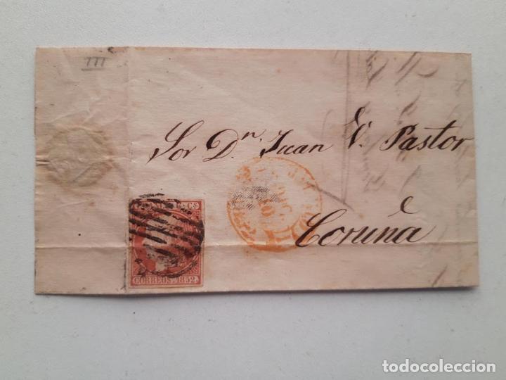 1852 EDIFIL 12 MADRID CORUÑA (Sellos - España - Isabel II de 1.850 a 1.869 - Nuevos)