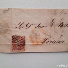 Sellos: 1852 EDIFIL 12 MADRID CORUÑA. Lote 180293225