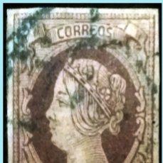 Sellos: PRECIOSO EJEMPLAR DE 2 REALES 1860 DE ISABEL II CON R. DE CARRETA COLOR AZUL. RARO LUJO.DOBLE FIRMA.. Lote 180505210
