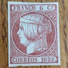 Sellos: ESPAÑA CLÁSICOS N°12 REIMPRESIÓN (FOTOGRAFÍA REAL). Lote 180851177