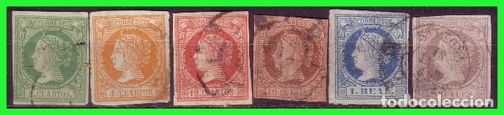 1860 ISABEL II, EDIFIL Nº 51 A 56 (O) SERIE COMPLETA (Sellos - España - Isabel II de 1.850 a 1.869 - Nuevos)