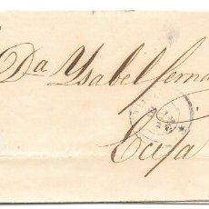 Sellos: SEVILLA. EDIFIL Nº 40. ENVUELTA CIRCULADA DE SEVILLA A ECIJA. 1855. Lote 181037216