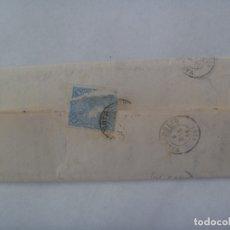 Sellos: CARTA CIRCULADA CON SELLO DE ISABEL II AZUL. DIRIGIDA A VALLADOLID EN 1863. MATASELLO Y MANUSCRITA. Lote 181102155