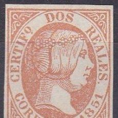 Sellos: EDIFIL Nº 8* 2R. ANARANJADO ( FALSO FILATELICO ). Lote 181164593