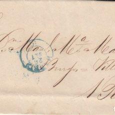 Selos: 1855 CARTA CON SELLO NUM. 40 DE ANTONIO TABERNILLA EN MADRID DESTINO BOCOS FECHADOR AZUL Y PARRILLA. Lote 181200222