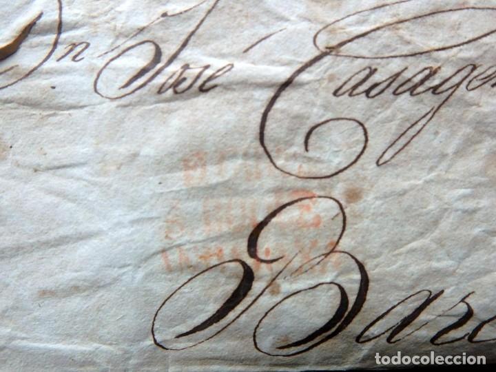 Sellos: (JX-191087)Sobre prefilatelico , Yndias a Cataluña , porteo 7.R.Rojo , D.Jose Casagemas , Barcelona - Foto 5 - 181350416