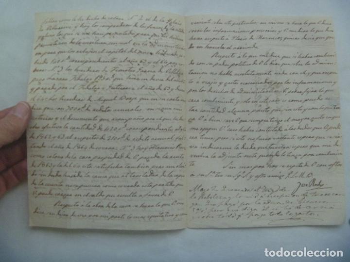 Sellos: CARTA CIRCULADA CON SELLO DE ISABEL II AZUL. DIRIGIDA A VALLADOLID EN 1863. MATASELLO Y MANUSCRITA - Foto 4 - 181442243