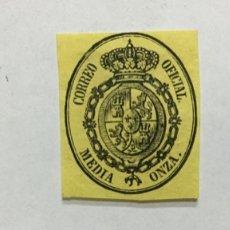 Sellos: ESPAÑA 1855 EDIFIL 35/37 - NUEVOS CON FIJASELLOS (35 CON GOMA). Lote 181452018